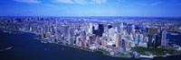 "Aerial, Lower Manhattan, NYC, New York City, New York State, USA by Panoramic Images - 27"" x 9"""