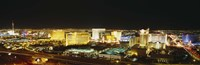"High Angle View Of Buildings Lit Up At Night, Las Vegas, Nevada by Panoramic Images - 27"" x 9"""