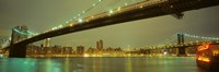 """USA, New York, Brooklyn and Manhattan Bridges by Panoramic Images - 27"""" x 9"""""""