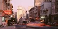 USA California San Francisco Evening Traffic