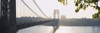 """George Washington Bridge in black and white, New York City by Panoramic Images - 27"""" x 9"""" - $28.99"""