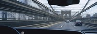 """Cars moving on the bridge, Brooklyn Bridge, New York City, New York State, USA by Panoramic Images - 27"""" x 9"""""""