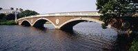 "Arch bridge across a river, Anderson Memorial Bridge, Charles River, Boston, Massachusetts, USA by Panoramic Images - 27"" x 9"""
