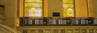"Arrival departure board in a station, Grand Central Station, Manhattan, New York City, New York State, USA by Panoramic Images - 27"" x 9"""