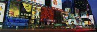 "Billboards On Buildings In A City, Times Square, NYC, New York City, New York State, USA by Panoramic Images - 27"" x 9"""
