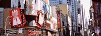 """Signs in Times Square, NYC by Panoramic Images - 27"""" x 9"""", FulcrumGallery.com brand"""