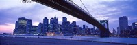 "Brooklyn Bridge and New York City Skyline by Panoramic Images - 27"" x 9"""