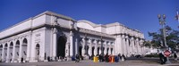 "USA, Washington DC, Tourists walking in front of Union Station by Panoramic Images - 27"" x 9"", FulcrumGallery.com brand"