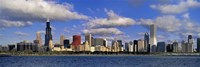 """USA, Illinois, Chicago, Panoramic view of an urban skyline by the shore by Panoramic Images - 27"""" x 9"""""""