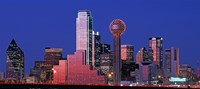 "USA, Texas, Dallas, Panoramic view of an urban skyline at night by Panoramic Images - 27"" x 12"" - $28.99"