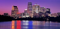 USA, Texas, Austin, View of an urban skyline at night Fine Art Print