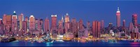 """New York City West Side Skyscrapers during dusk by Panoramic Images - 27"""" x 9"""""""