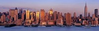 """West Side Skyscrapers, New York City by Panoramic Images - 27"""" x 9"""""""