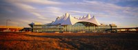 """Clouded sky over an airport, Denver International Airport, Denver, Colorado, USA by Panoramic Images - 27"""" x 9"""""""