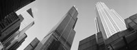 """Low angle view of buildings, Sears Tower, Chicago, Illinois, USA by Panoramic Images - 27"""" x 9"""""""