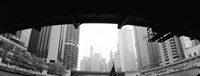 """Low angle view of buildings, Chicago, Illinois, USA by Panoramic Images - 27"""" x 9"""""""