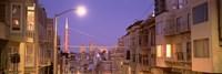 "City At Night, San Francisco, California, USA by Panoramic Images - 27"" x 9"""