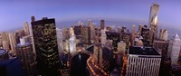 USA, Illinois, Chicago, Chicago River, High angle view of the city Fine Art Print