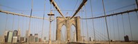 "USA, New York State, New York City, Brooklyn Bridge at dawn by Panoramic Images - 27"" x 9"""