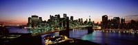 """High Angle View Of Brooklyn Bridge, NYC, New York City, New York State, USA by Panoramic Images - 27"""" x 9"""""""