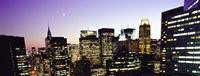 """Buildings lit up at dusk, Manhattan by Panoramic Images - 27"""" x 9"""" - $28.99"""