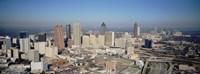 High angle view of downtown Atlanta, Georgia, USA Fine Art Print
