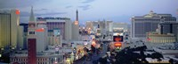 "The Strip at Dusk, Las Vegas, Nevada by Panoramic Images - 27"" x 9"", FulcrumGallery.com brand"