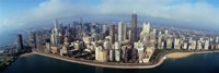 """High angle view of buildings at the waterfront, Chicago, Illinois, USA by Panoramic Images - 27"""" x 9"""""""