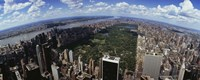 """Aerial View of New York City with Central Park by Panoramic Images - 27"""" x 9"""""""