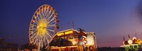 """Low Angle View Of A Ferries Wheel Lit Up At Dusk, Erie County Fair And Exposition, Erie County, Hamburg, New York State, USA by Panoramic Images - 27"""" x 9"""""""