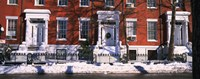 """Facade of houses in the 1830's Federal style of architecture, Washington Square, New York City, New York State, USA by Panoramic Images - 27"""" x 9"""""""