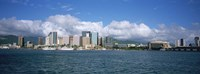 "Buildings On The Waterfront, Downtown, Honolulu, Hawaii, USA by Panoramic Images - 27"" x 9"", FulcrumGallery.com brand"