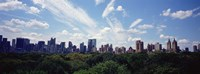 """Skyscrapers In A City, Manhattan, NYC, New York City, New York State, USA by Panoramic Images - 27"""" x 9"""""""