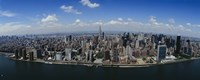 """Aerial view of a city, Manhattan, New York City, New York State by Panoramic Images - 27"""" x 9"""""""