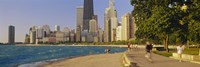"""Group of people jogging, Chicago, Illinois, USA by Panoramic Images - 27"""" x 9"""""""