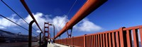 "Tourist Walking On A Bridge, Golden Gate Bridge, San Francisco, California, USA by Panoramic Images - 27"" x 9"""