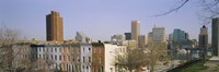 """High angle view of buildings in a city, Inner Harbor, Baltimore, Maryland, USA by Panoramic Images - 27"""" x 9"""""""