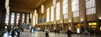 """Group of people at a station, Philadelphia, Pennsylvania, USA by Panoramic Images - 27"""" x 9"""", FulcrumGallery.com brand"""
