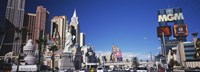 """Buildings in a city, The Strip, Las Vegas, Nevada, USA by Panoramic Images - 27"""" x 10"""""""