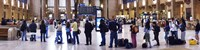 """People waiting in a railroad station, 30th Street Station, Schuylkill River, Philadelphia, Pennsylvania, USA by Panoramic Images - 27"""" x 9"""""""