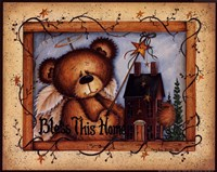 Bless This Home (bear) Fine Art Print