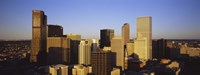 """Sun reflecting off skyscrapers in Denver, Colorado, USA by Panoramic Images - 27"""" x 9"""""""