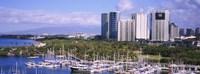 "Boats in Ala Wai, Honolulu, Hawaii by Panoramic Images - 27"" x 9"" - $28.99"