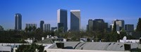 Buildings and skyscrapers in a city, Century City, City of Los Angeles, California, USA Fine Art Print