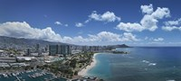 """Buildings in a city, Honolulu, Oahu, Hawaii, USA 2007 by Panoramic Images, 2007 - 27"""" x 9"""""""