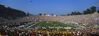 """High angle view of a football stadium full of spectators, The Rose Bowl, Pasadena, City of Los Angeles, California, USA by Panoramic Images - 27"""" x 9"""""""