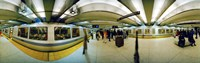 """Large group of people at a subway station, Bart Station, San Francisco, California, USA by Panoramic Images - 27"""" x 9"""""""