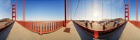 """Group of people on a suspension bridge, Golden Gate Bridge, San Francisco, California, USA by Panoramic Images - 27"""" x 9"""""""