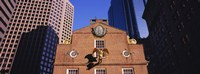 """Low angle view of a golden eagle outside of a building, Old State House, Freedom Trail, Boston, Massachusetts, USA by Panoramic Images - 27"""" x 9"""""""