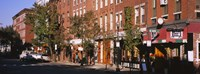 """Stores along a street, North End, Boston, Massachusetts, USA by Panoramic Images - 27"""" x 10"""" - $28.99"""